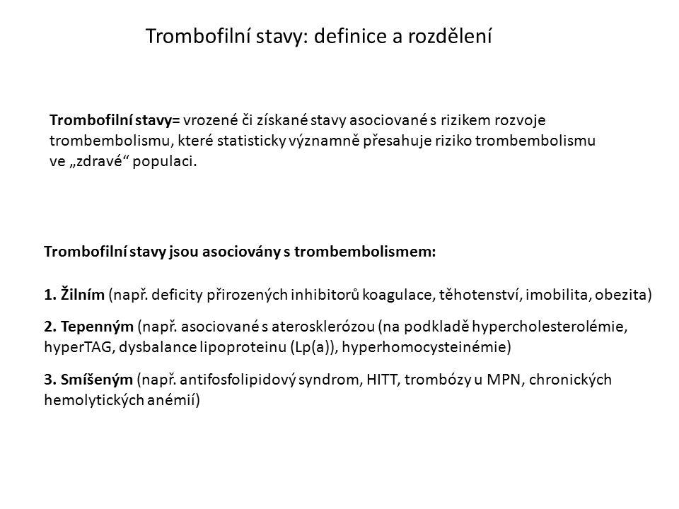 Trombofilní stavy: definice a rozdělení