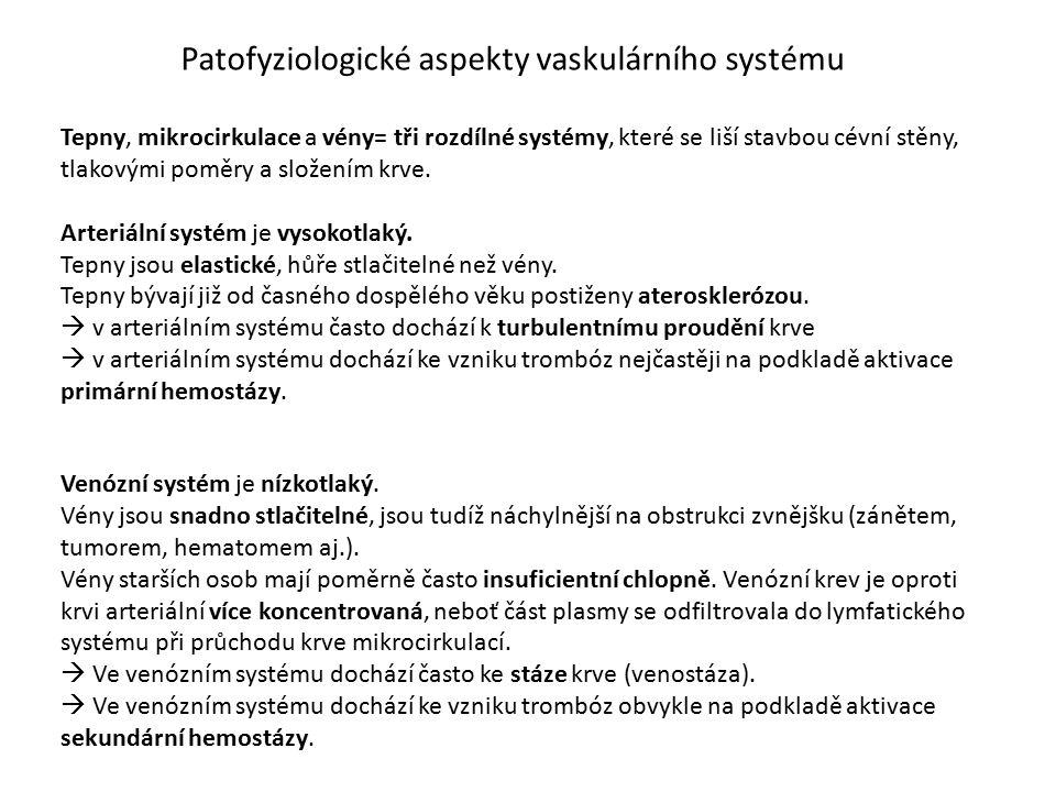 Patofyziologické aspekty vaskulárního systému