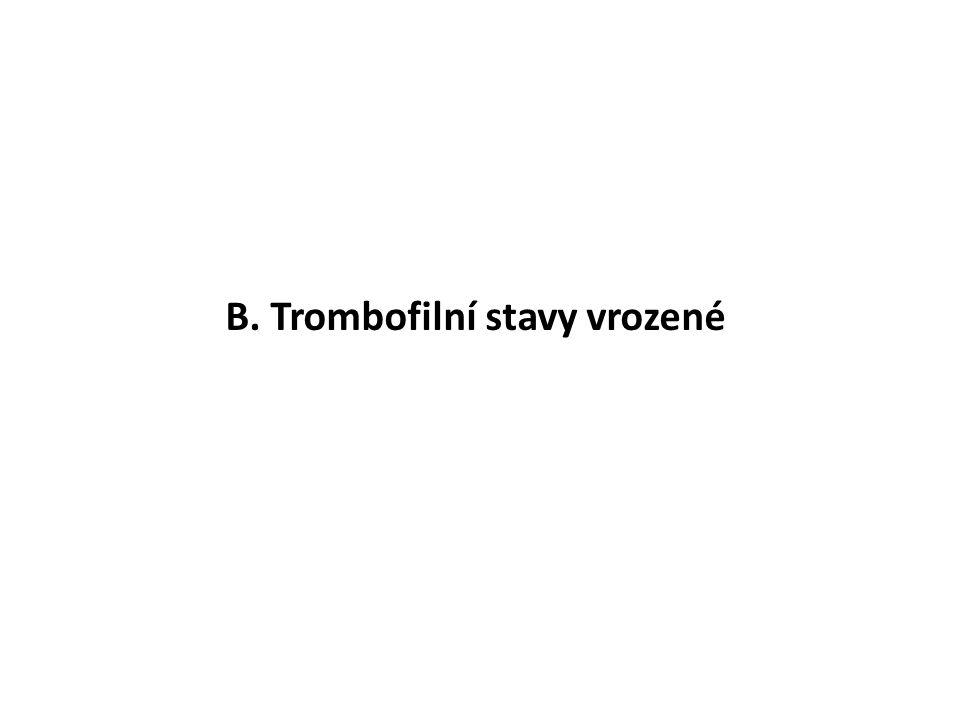 B. Trombofilní stavy vrozené