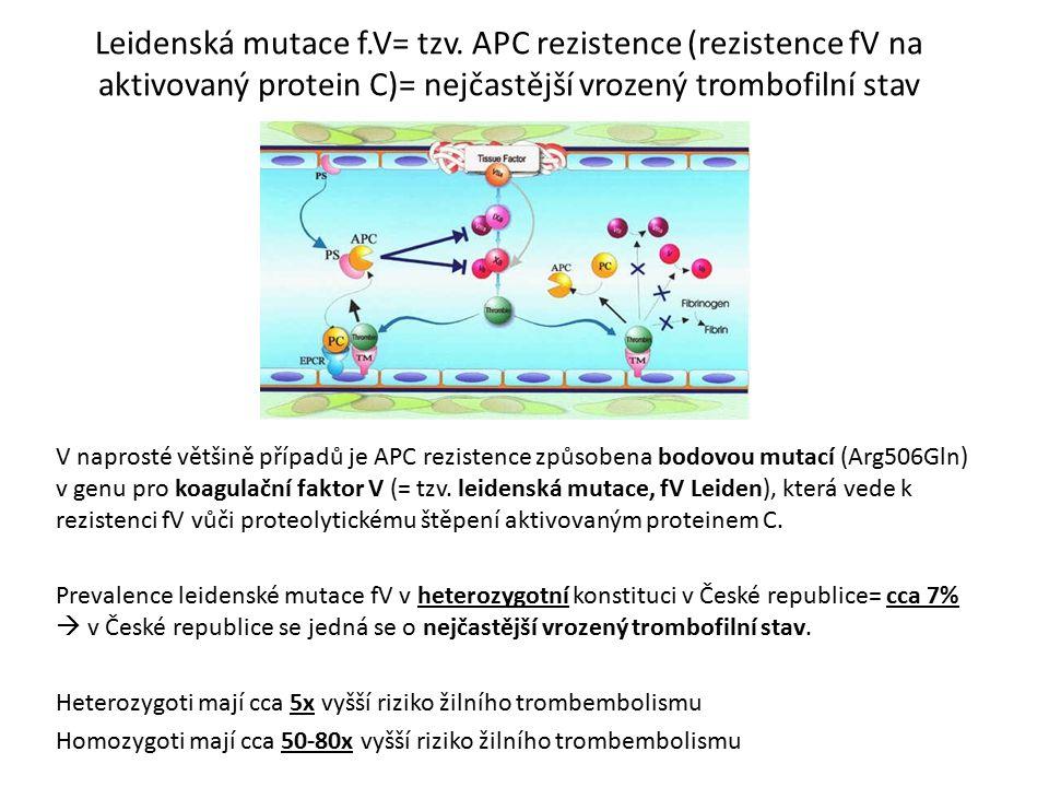 Leidenská mutace f. V= tzv