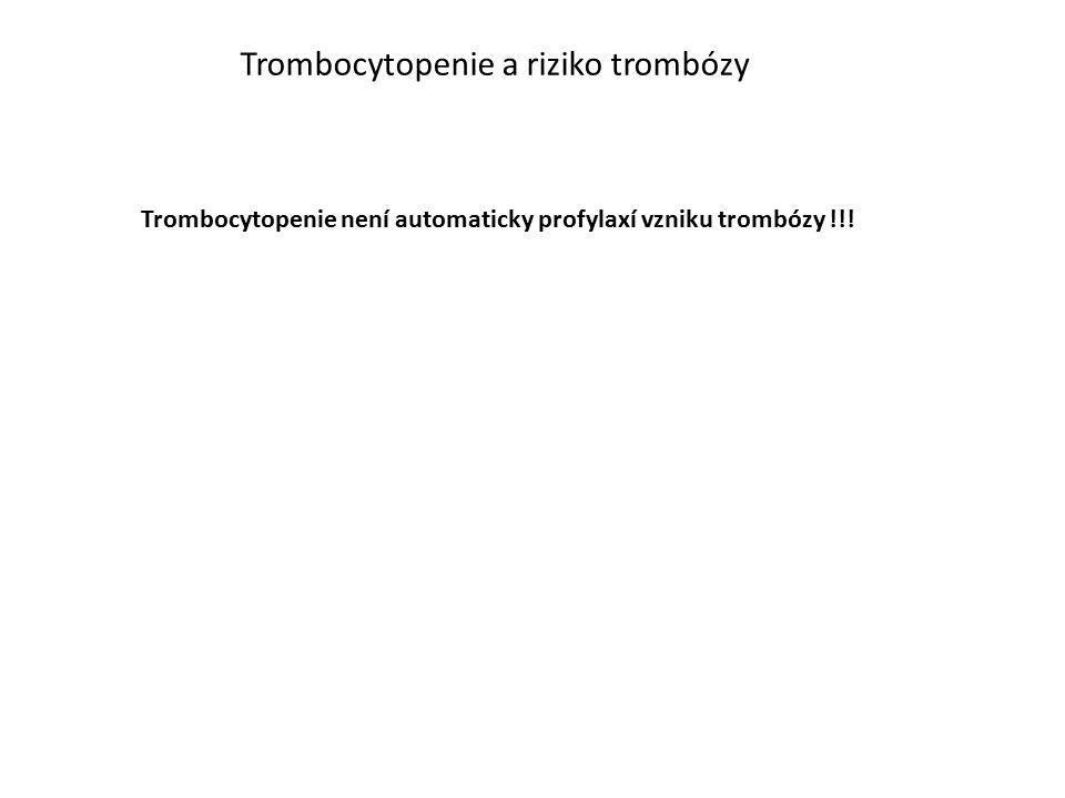 Trombocytopenie a riziko trombózy