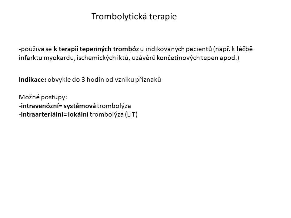 Trombolytická terapie