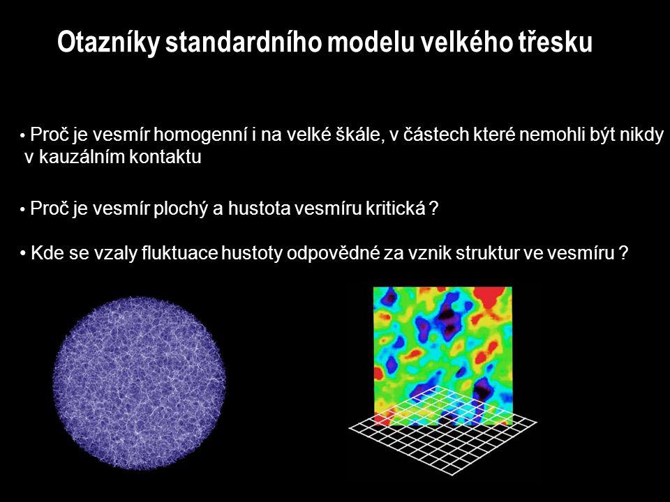 Otazníky standardního modelu velkého třesku