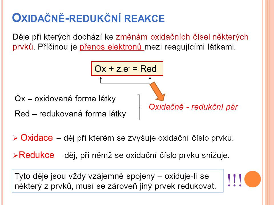 Oxidačně-redukční reakce