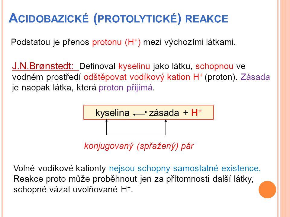 Acidobazické (protolytické) reakce