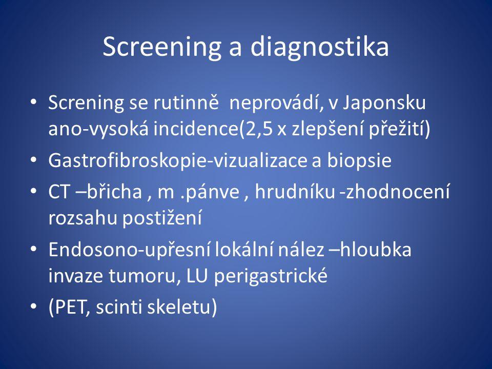 Screening a diagnostika
