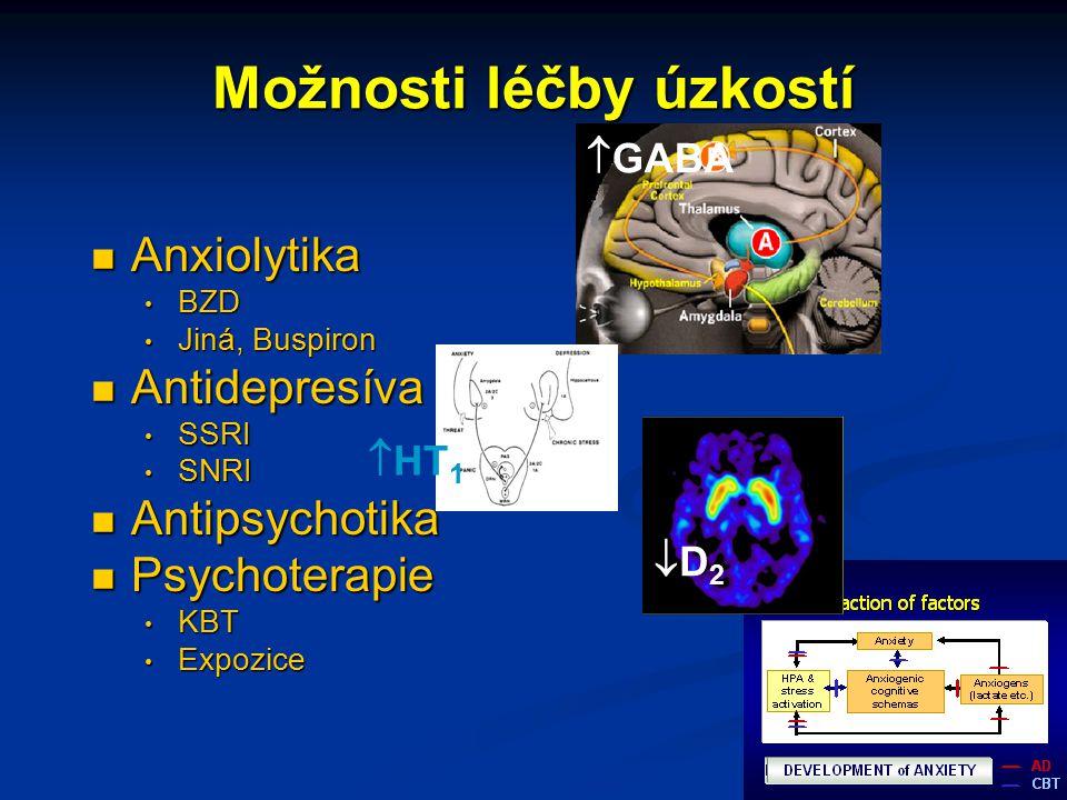 Možnosti léčby úzkostí