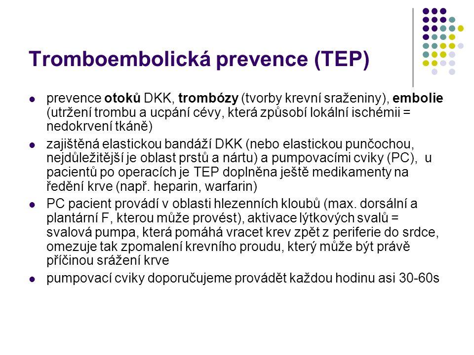 Tromboembolická prevence (TEP)