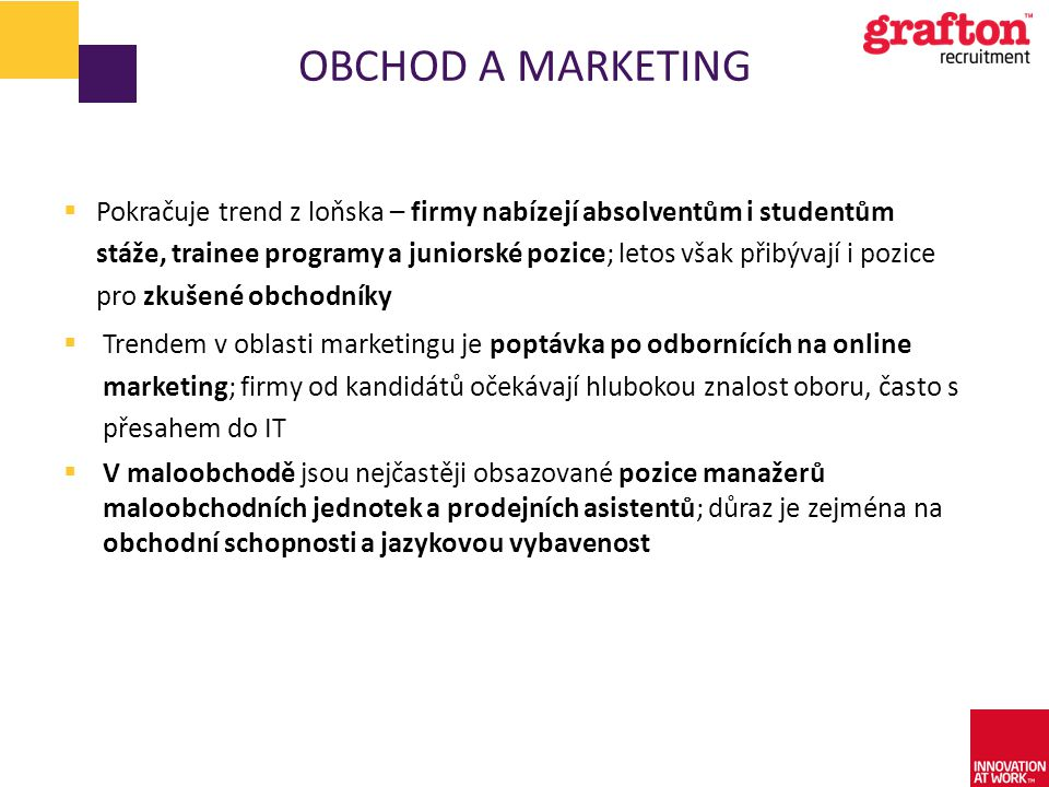 Obchod a marketing