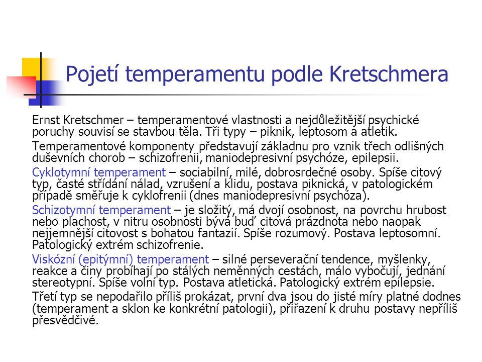 Pojetí temperamentu podle Kretschmera
