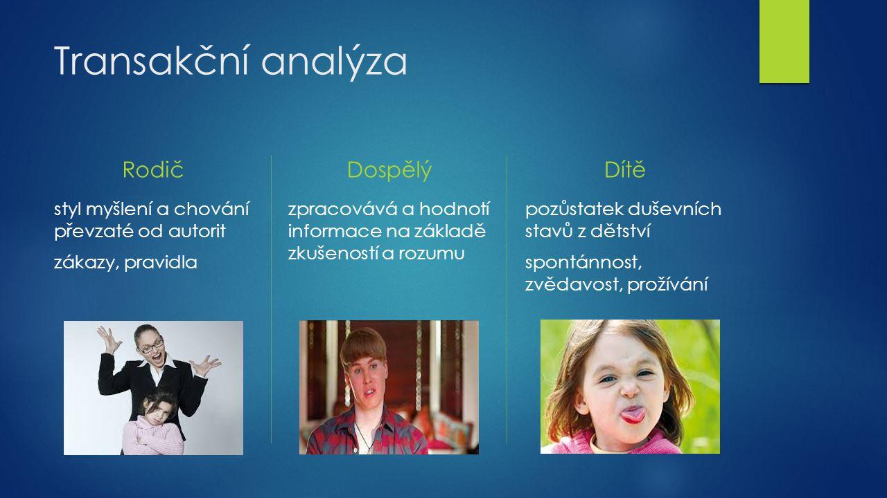 Transakční analýza Rodič Dospělý Dítě