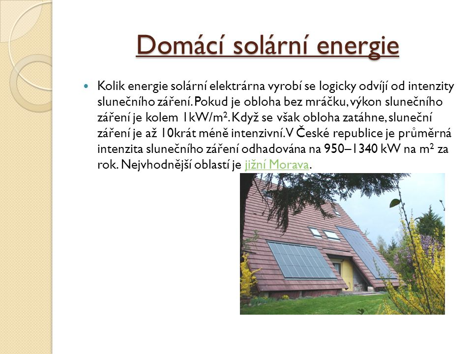 Domácí solární energie