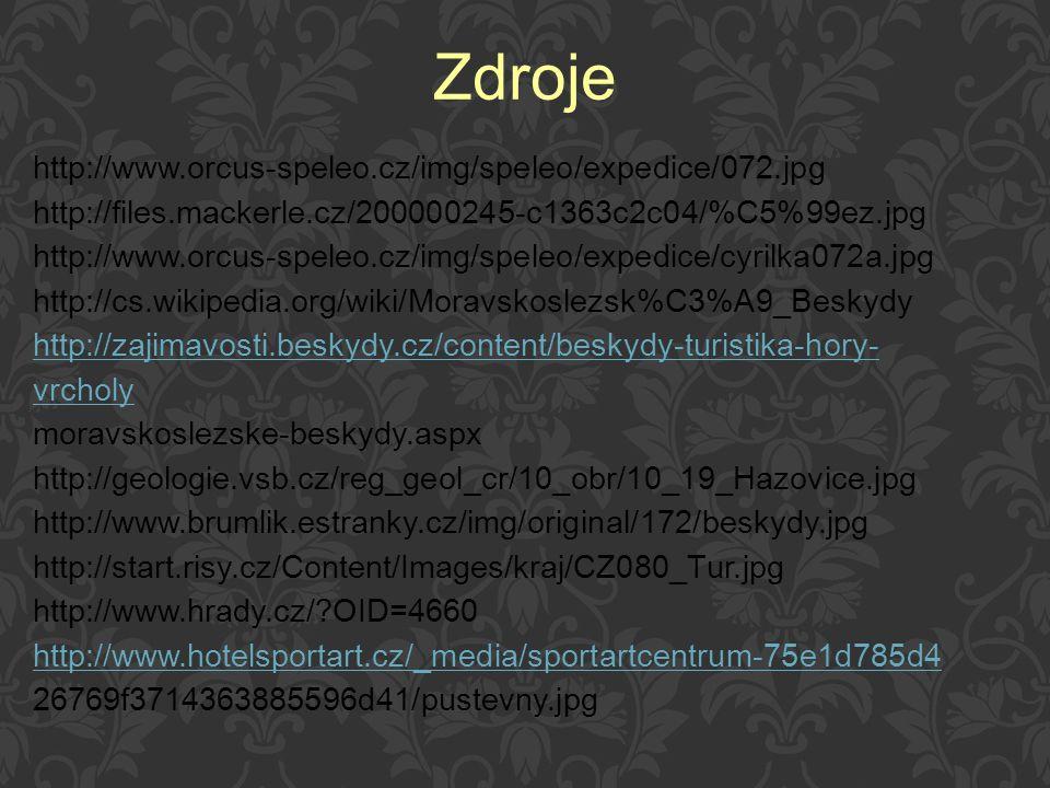 Zdroje http://www.orcus-speleo.cz/img/speleo/expedice/072.jpg