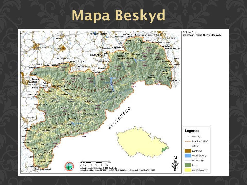 Mapa Beskyd