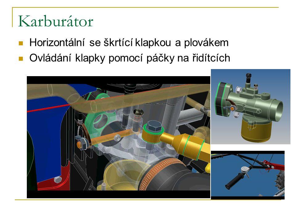 Karburátor Horizontální se škrtící klapkou a plovákem