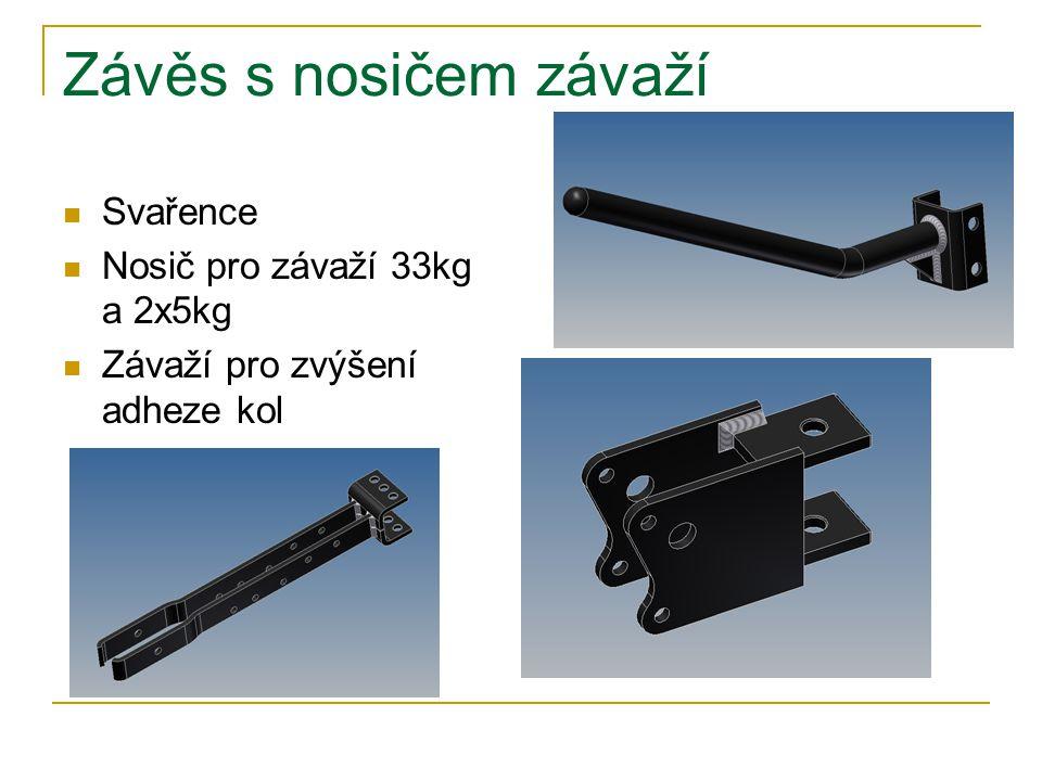 Závěs s nosičem závaží Svařence Nosič pro závaží 33kg a 2x5kg