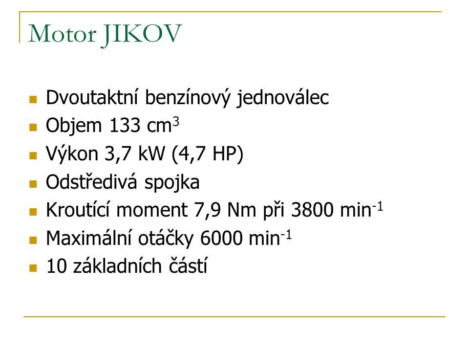 Motor JIKOV Dvoutaktní benzínový jednoválec Objem 133 cm3