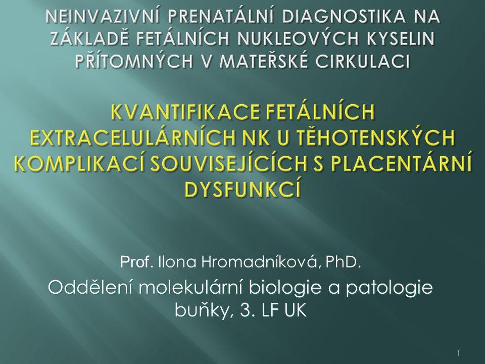 Oddělení molekulární biologie a patologie buňky, 3. LF UK