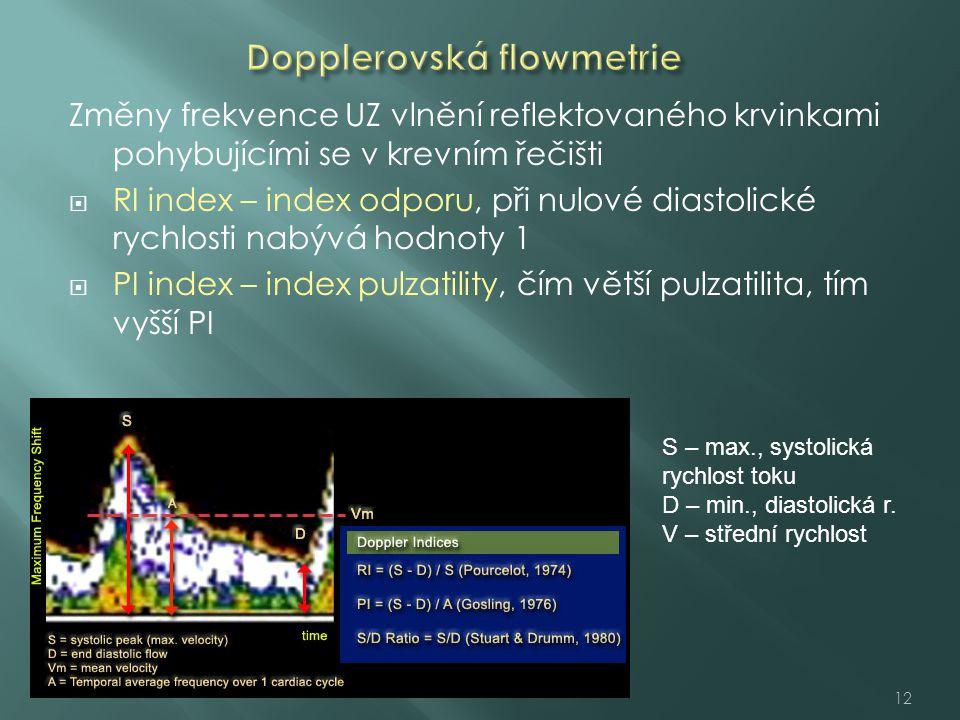 Dopplerovská flowmetrie