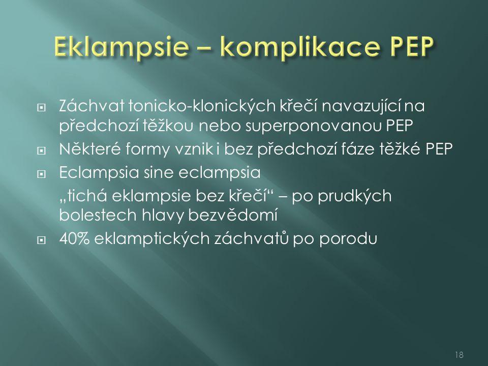 Eklampsie – komplikace PEP