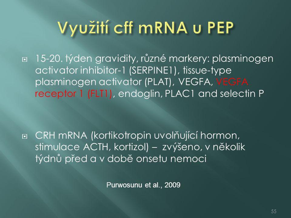 Využití cff mRNA u PEP