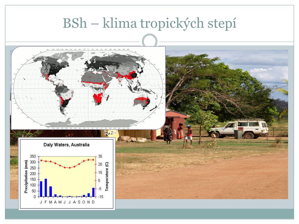 BSh – klima tropických stepí