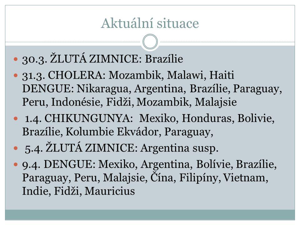 Aktuální situace 30.3. ŽLUTÁ ZIMNICE: Brazílie