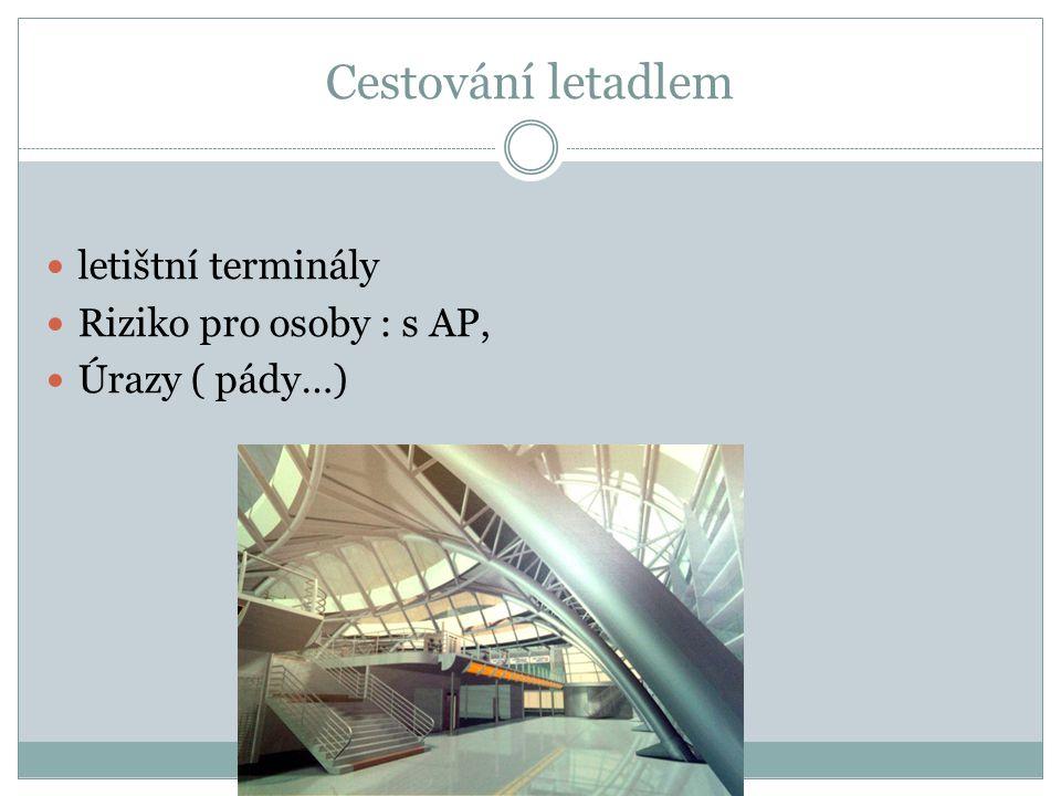 Cestování letadlem letištní terminály Riziko pro osoby : s AP,