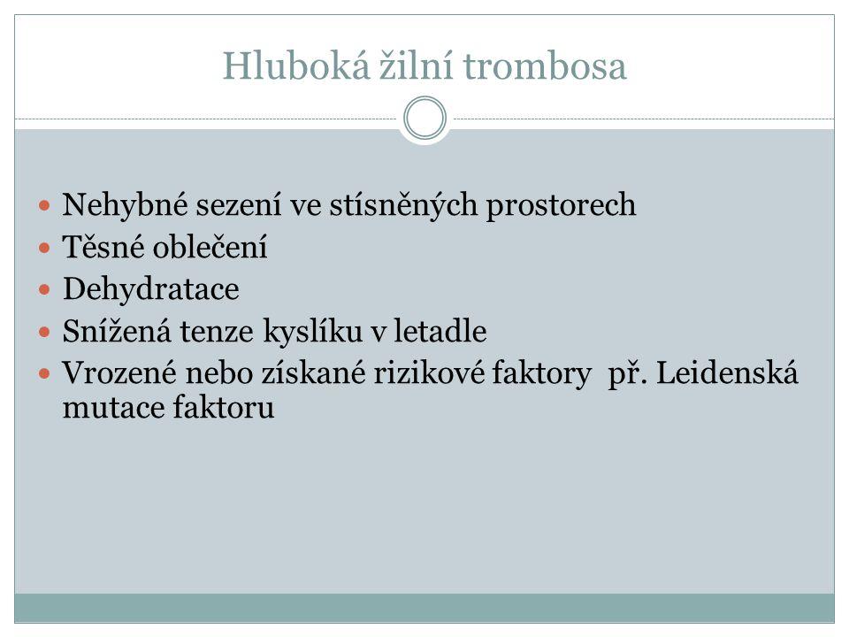 Hluboká žilní trombosa
