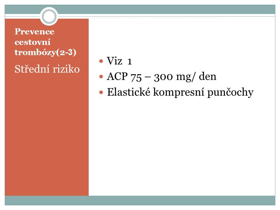 Prevence cestovní trombózy(2-3)