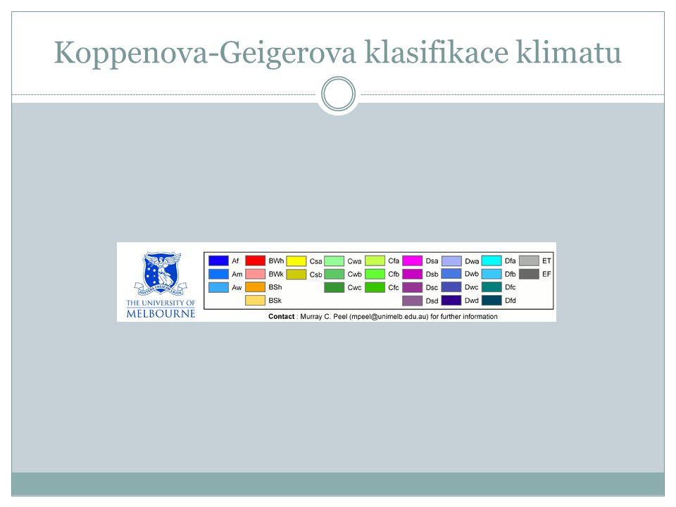 Koppenova-Geigerova klasifikace klimatu