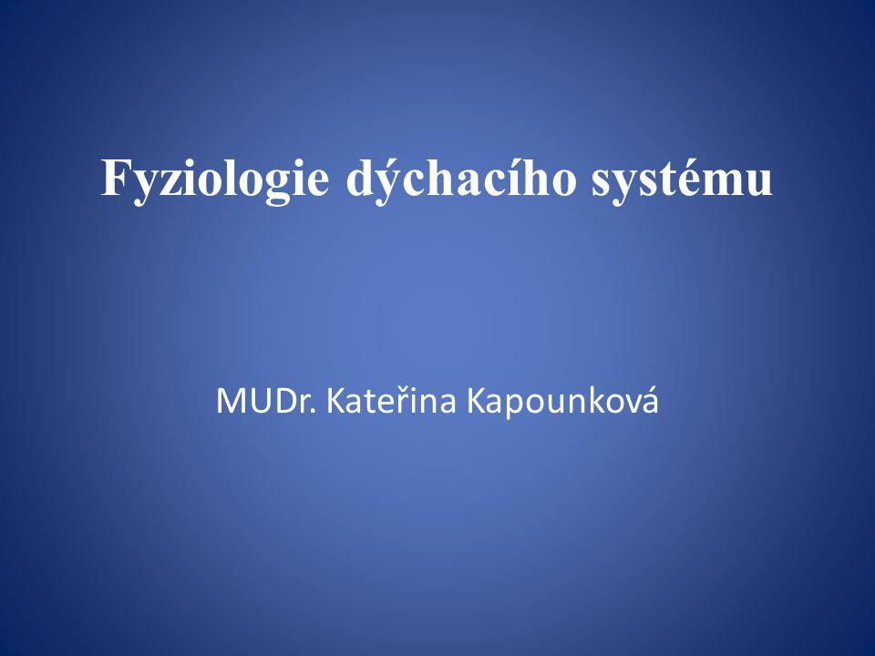 Fyziologie dýchacího systému