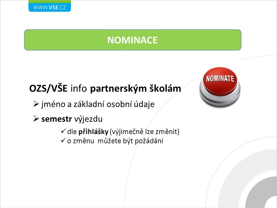 OZS/VŠE info partnerským školám