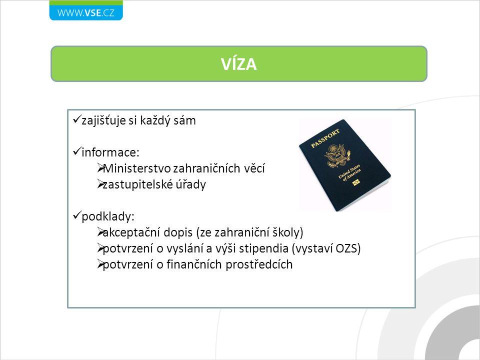 VÍZA zajišťuje si každý sám informace: Ministerstvo zahraničních věcí