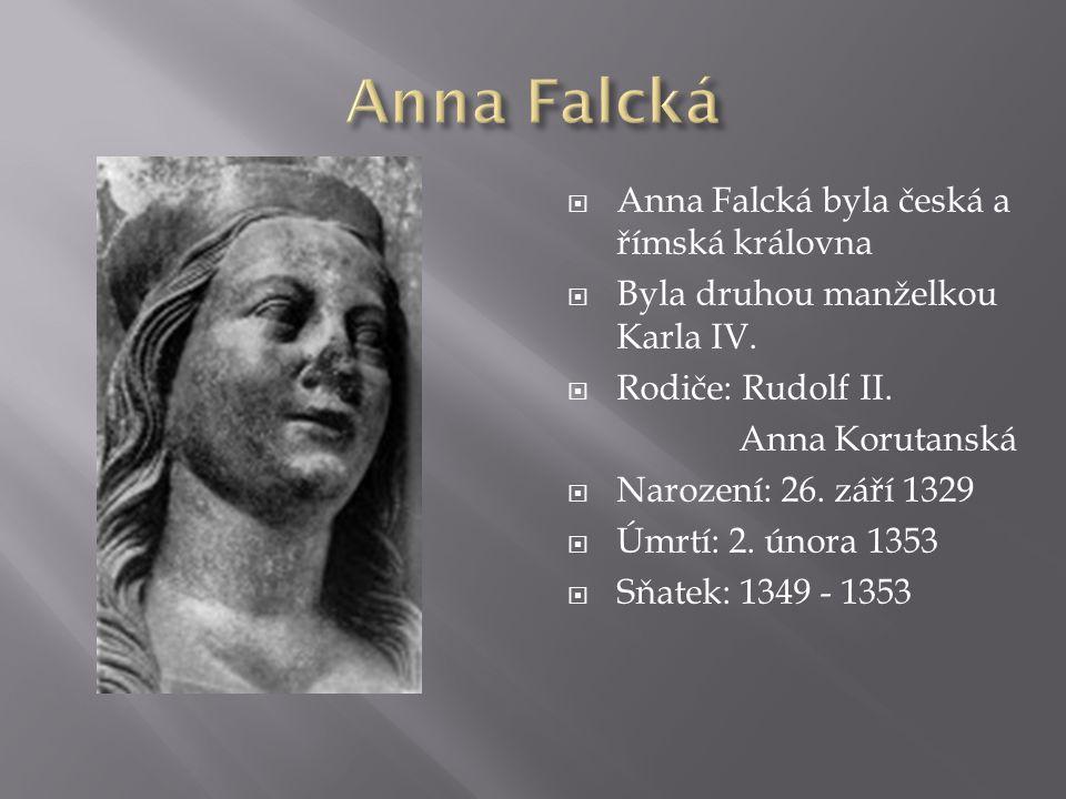 Anna Falcká Anna Falcká byla česká a římská královna