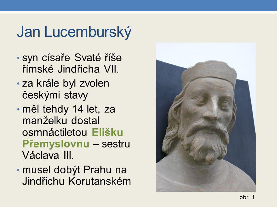 Jan Lucemburský syn císaře Svaté říše římské Jindřicha VII.