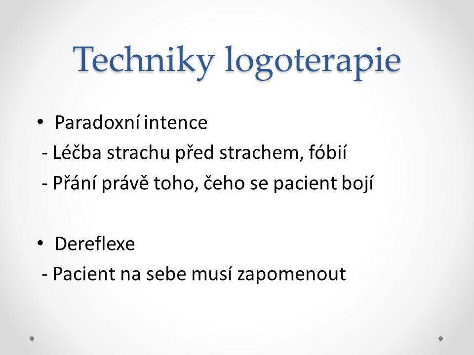 Techniky logoterapie Paradoxní intence