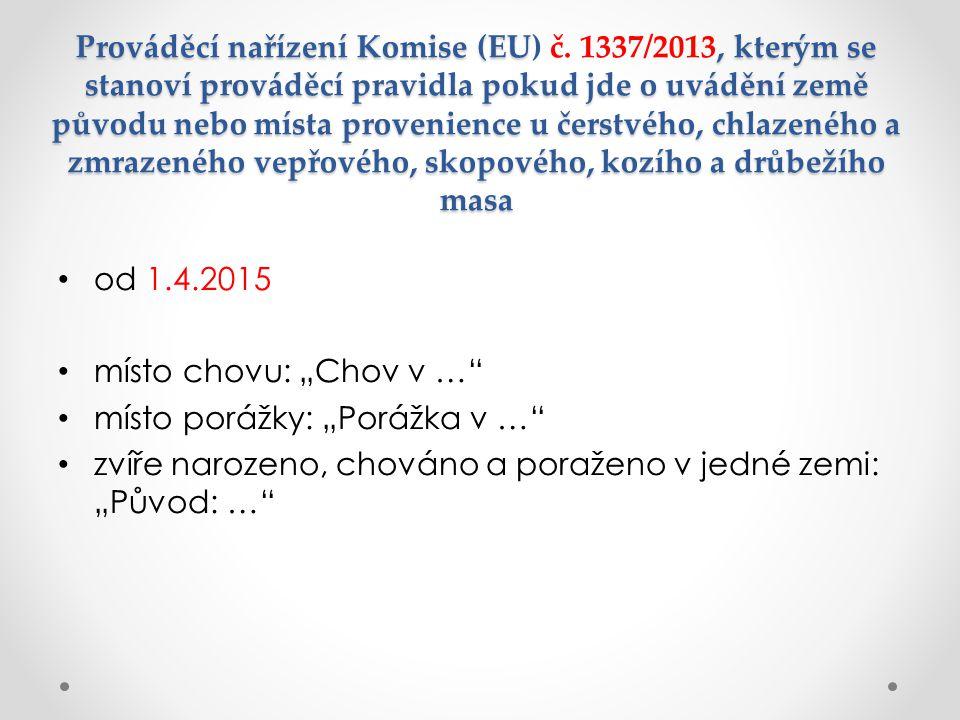 Prováděcí nařízení Komise (EU) č