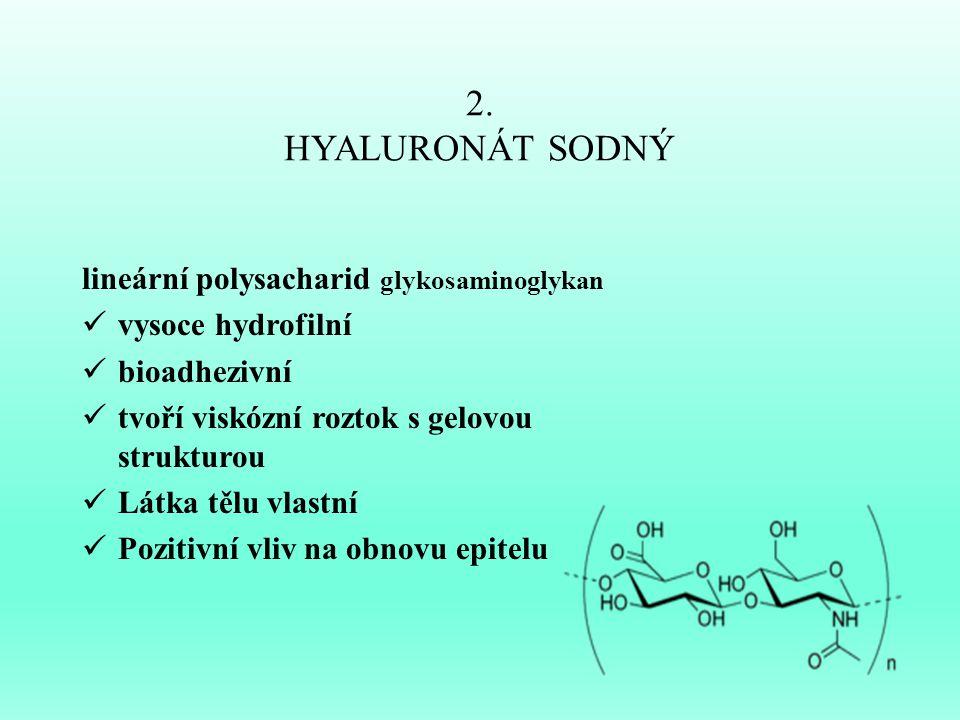 2. HYALURONÁT SODNÝ lineární polysacharid glykosaminoglykan