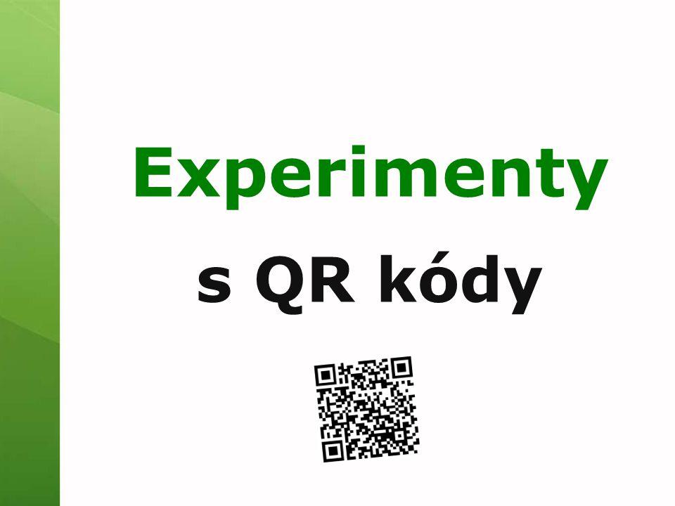 Experimenty s QR kódy
