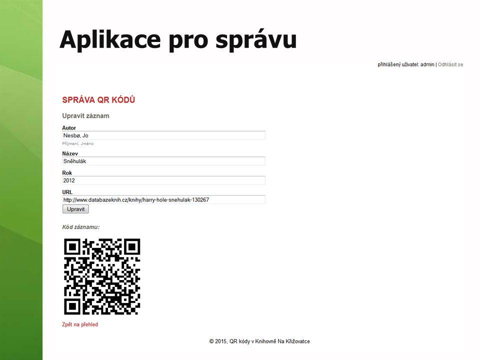 Aplikace pro správu