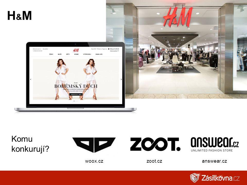 H&M Komu konkurují woox.cz zoot.cz answear.cz