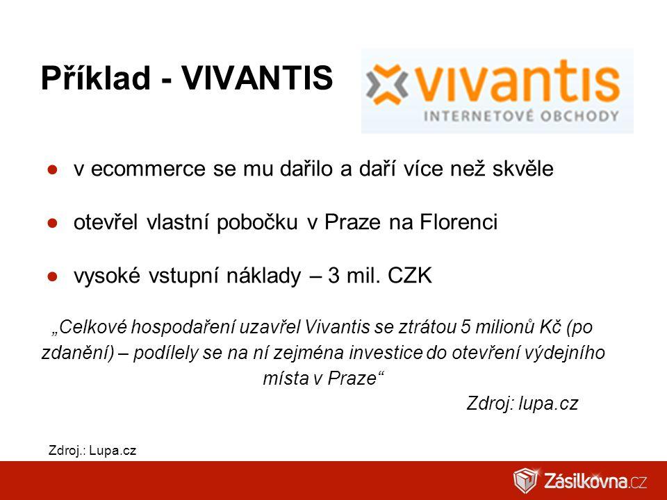 Příklad - VIVANTIS v ecommerce se mu dařilo a daří více než skvěle