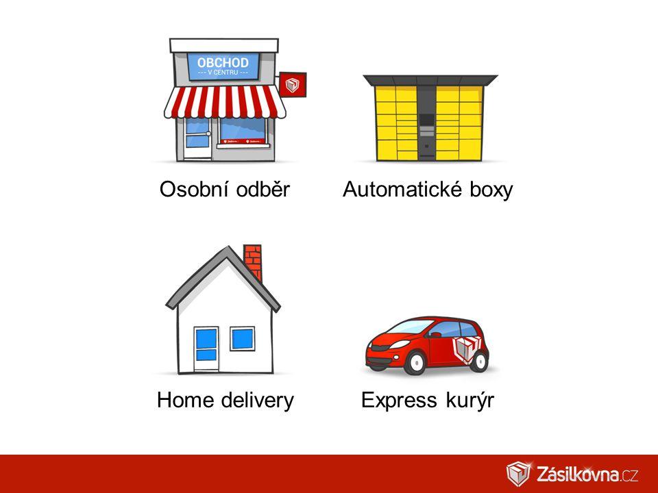 Osobní odběr Automatické boxy Home delivery Express kurýr