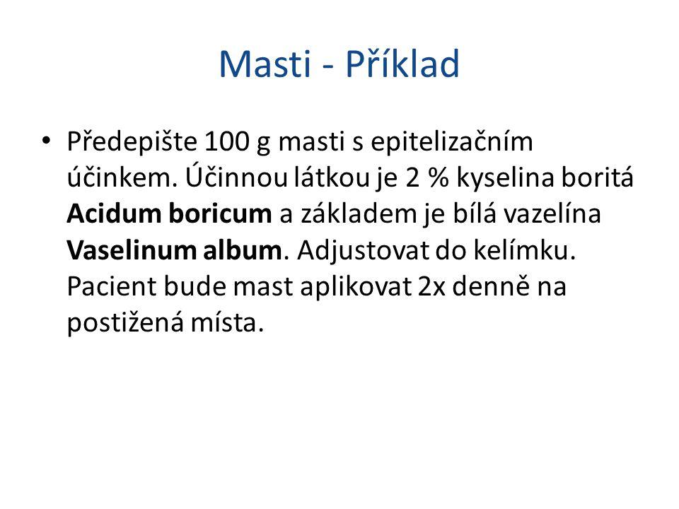 Masti - Příklad