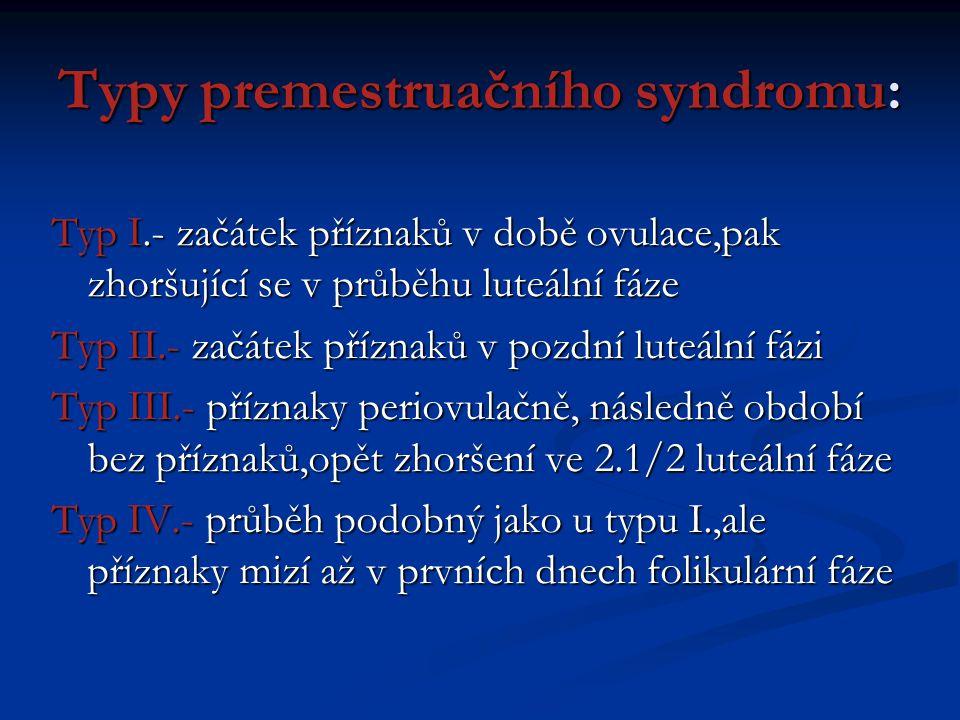 Typy premestruačního syndromu: