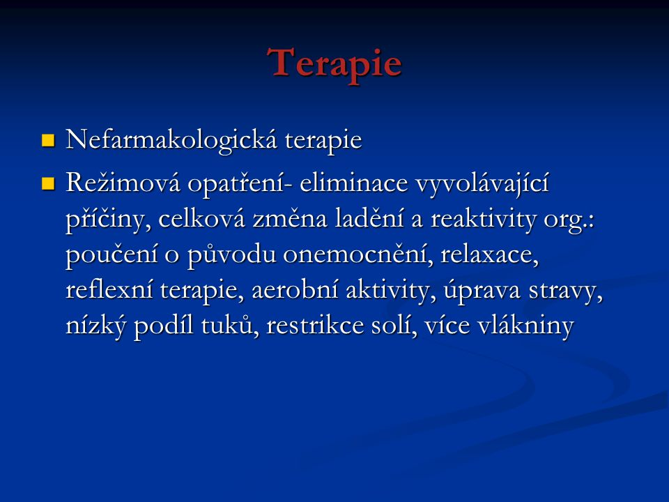 Terapie Nefarmakologická terapie