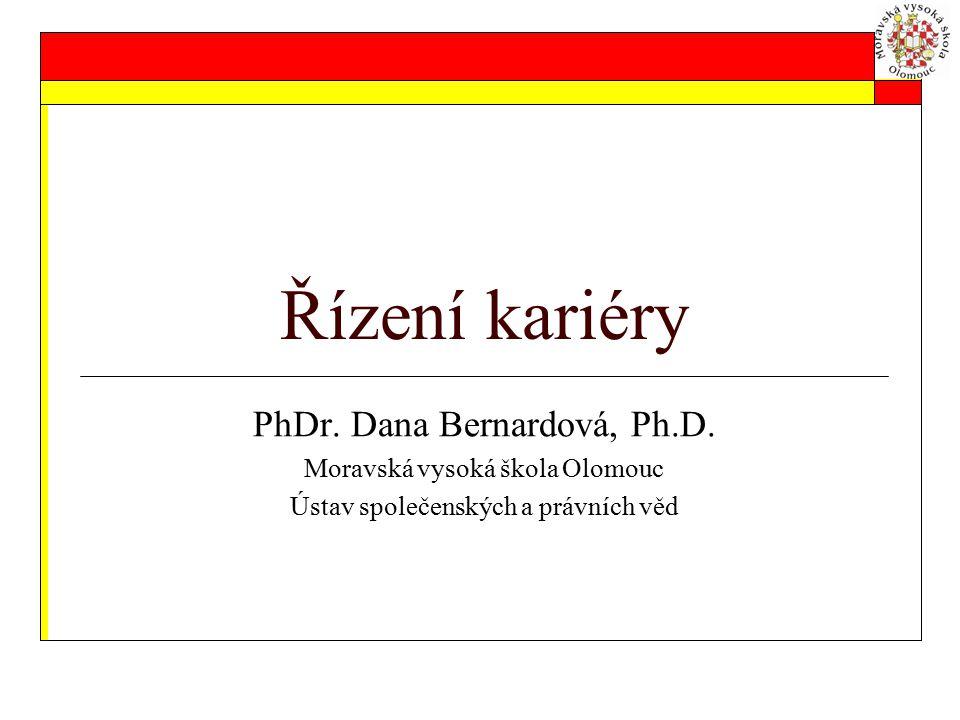 Řízení kariéry PhDr. Dana Bernardová, Ph.D.