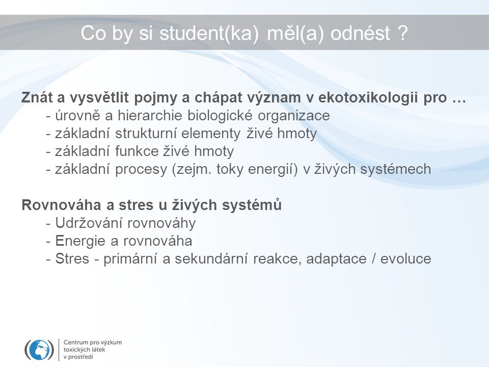 Co by si student(ka) měl(a) odnést