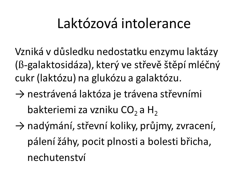 Laktózová intolerance
